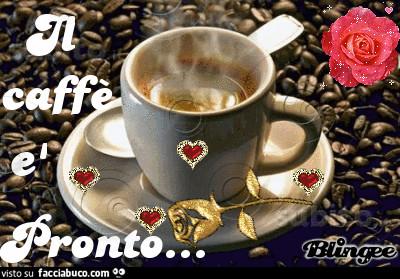 Gif animata il caffè è pronto
